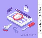 website security concept. can... | Shutterstock .eps vector #732546970