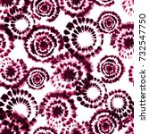 vector tie dye shibori print.... | Shutterstock .eps vector #732547750