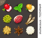 food ingredients set 17 | Shutterstock .eps vector #732549649