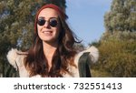 young pretty hipster mixed race ... | Shutterstock . vector #732551413