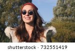 young pretty hipster mixed race ... | Shutterstock . vector #732551419