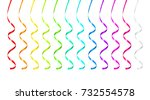 party ribbons | Shutterstock .eps vector #732554578