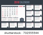 calendar with planner or space... | Shutterstock .eps vector #732555544