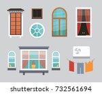 different interior windows of...   Shutterstock .eps vector #732561694