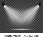 spotlights with light beams on... | Shutterstock .eps vector #732563938