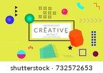 minimal universal banner... | Shutterstock .eps vector #732572653