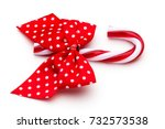 christmas decor on the whit... | Shutterstock . vector #732573538