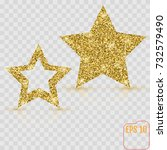 gold star vector banner. gold... | Shutterstock .eps vector #732579490