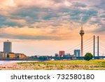 looking at media harbor at... | Shutterstock . vector #732580180