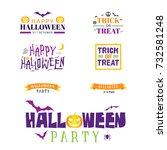 halloween colorful typography ... | Shutterstock .eps vector #732581248