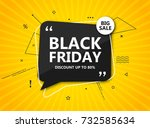black friday sale  shopping... | Shutterstock .eps vector #732585634