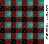 red green check plaid seamless... | Shutterstock .eps vector #732595096