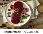 sweet canned cranberry sauce... | Shutterstock . vector #732601726