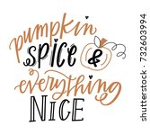 pumpkin spice and everything... | Shutterstock .eps vector #732603994
