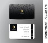 modern business card template... | Shutterstock .eps vector #732605578