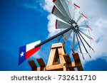 texas wind mill perfect symbol... | Shutterstock . vector #732611710