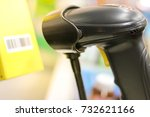barcode scan machine with...   Shutterstock . vector #732621166