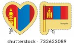 flag of mongolia. vector cut...   Shutterstock .eps vector #732623089