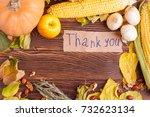 autumn concept of vegetables... | Shutterstock . vector #732623134