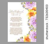vintage delicate invitation... | Shutterstock .eps vector #732630403