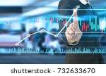businessman plan graph growth... | Shutterstock . vector #732633670