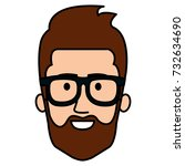 young man head avatar character | Shutterstock .eps vector #732634690