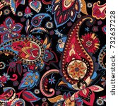 paisley. a pattern based on the ... | Shutterstock .eps vector #732637228