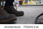 safety shoes in work | Shutterstock . vector #732641116
