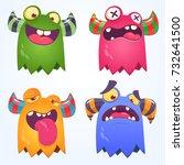 cartoon monsters set for... | Shutterstock .eps vector #732641500
