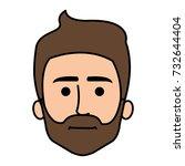 young man head avatar character | Shutterstock .eps vector #732644404