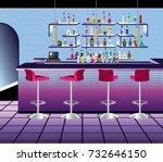 empty nightclub bar interior...   Shutterstock .eps vector #732646150