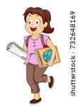 illustration of a kid girl... | Shutterstock .eps vector #732648169