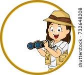 illustration of a kid girl...   Shutterstock .eps vector #732648208