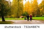 autumn season and forest | Shutterstock . vector #732648874