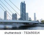 tianjin city waterfront... | Shutterstock . vector #732650314