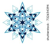 snowflake is an ornament for... | Shutterstock .eps vector #732654394