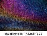 rainbow stone macro texture ... | Shutterstock . vector #732654826