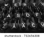 Small photo of Finnish vintage typewriter including uppercase letter Å with ring, letter Ä with diaeresis, QWERTY, and ASDF keys.
