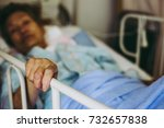 elderly women hospitalized   Shutterstock . vector #732657838