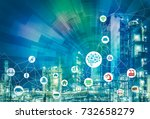 ai artificial intelligence  and ... | Shutterstock . vector #732658279