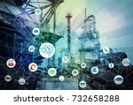 ai artificial intelligence  and ... | Shutterstock . vector #732658288