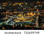 top view light up of the royal... | Shutterstock . vector #732659749