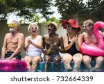 group of diverse senior adults... | Shutterstock . vector #732664339