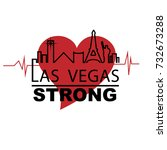 las vegas strong with iconic... | Shutterstock .eps vector #732673288