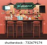 beer bar   restaurant. vector... | Shutterstock .eps vector #732679174
