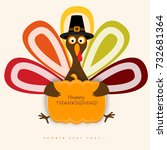 happy thanksgiving day... | Shutterstock .eps vector #732681364