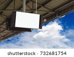 cctv and lcd tv with white... | Shutterstock . vector #732681754