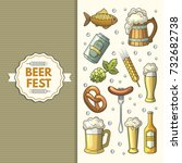 a set of oktoberfest icons.... | Shutterstock .eps vector #732682738