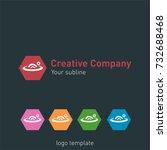 creative abstract logo design...   Shutterstock .eps vector #732688468
