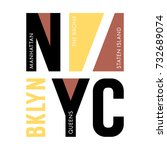 new york city typography   t... | Shutterstock .eps vector #732689074